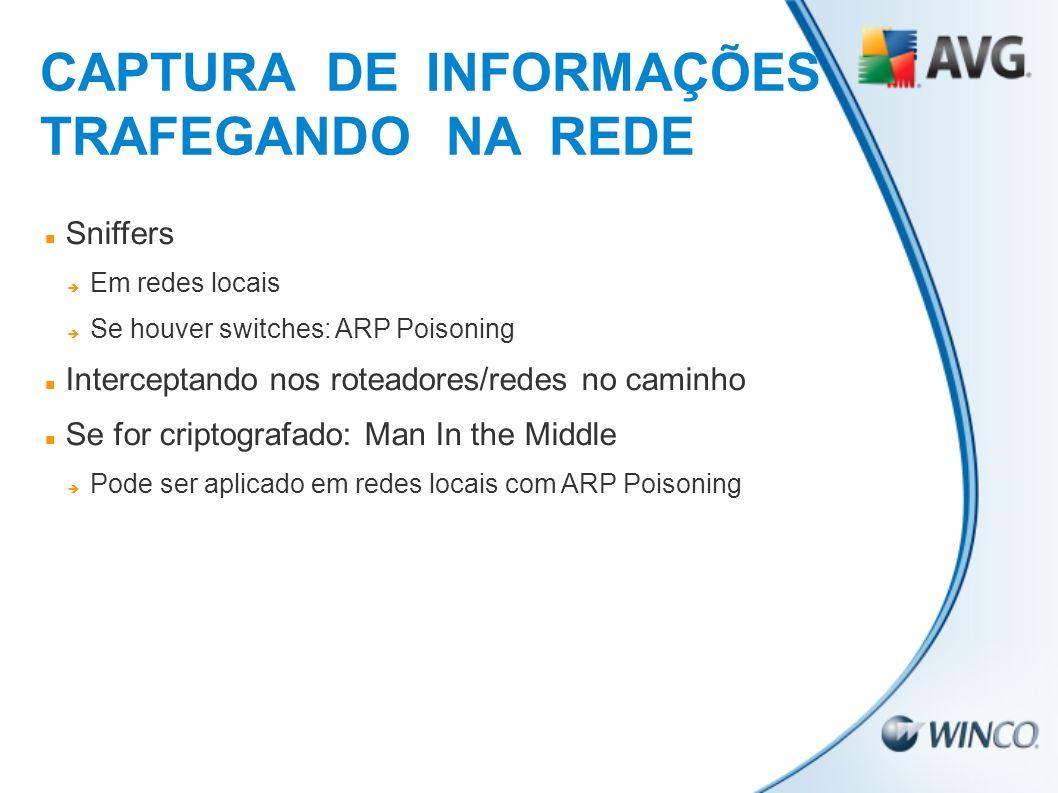 CAPTURA DE INFORMAÇÕES TRAFEGANDO NA REDE