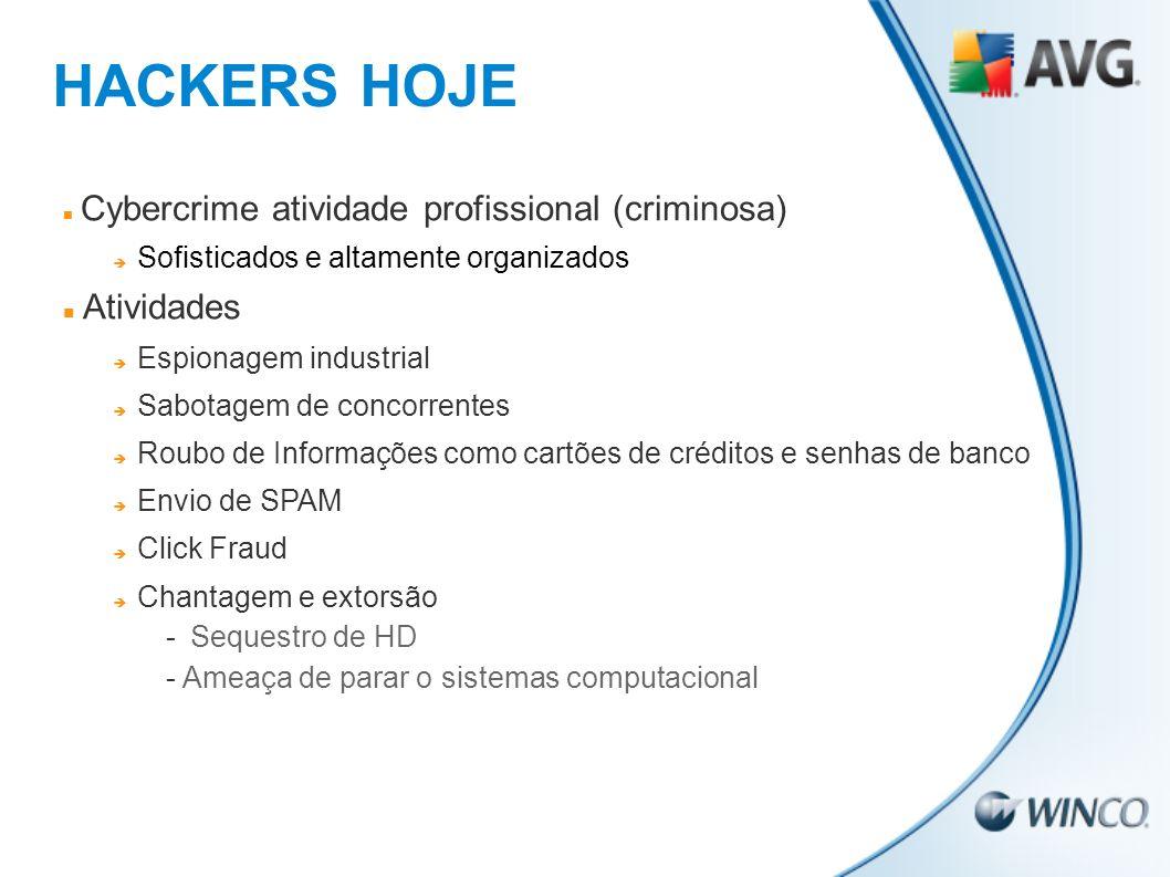 HACKERS HOJE Atividades Cybercrime atividade profissional (criminosa)