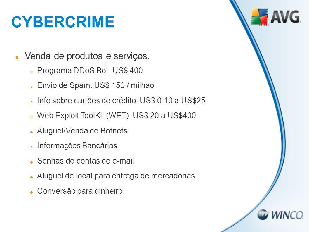 CYBERCRIME Venda de produtos e serviços. Programa DDoS Bot: US$ 400