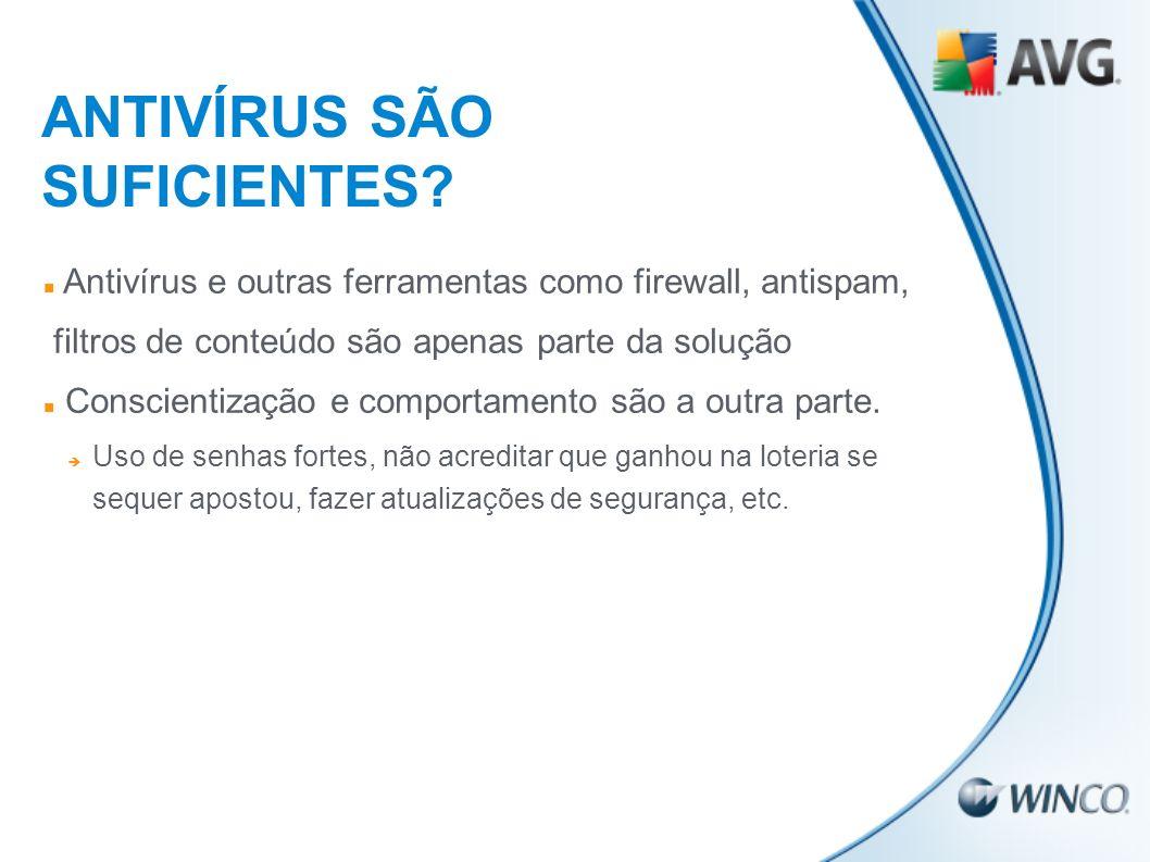 ANTIVÍRUS SÃO SUFICIENTES