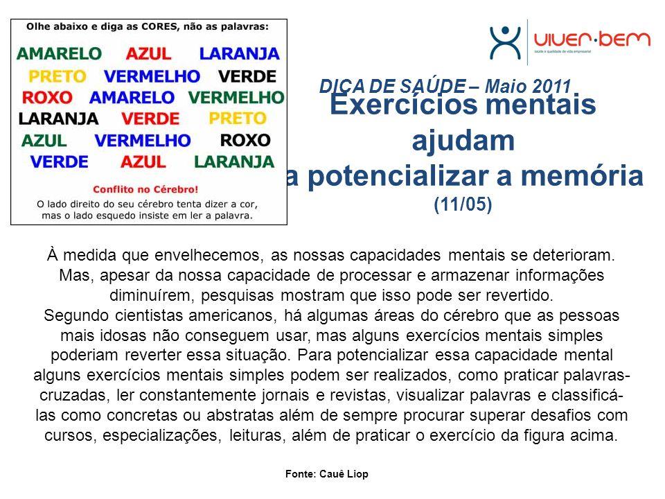 Exercícios mentais ajudam a potencializar a memória (11/05)