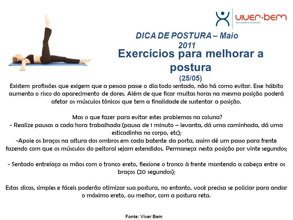 Exercícios para melhorar a postura (25/05)