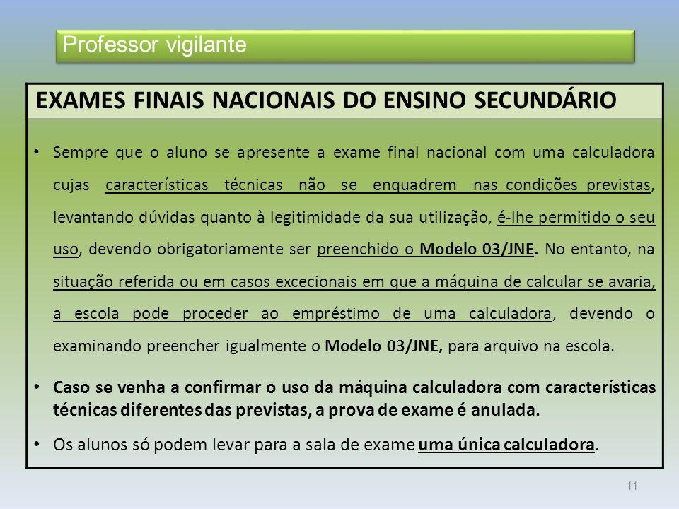 EXAMES FINAIS NACIONAIS DO ENSINO SECUNDÁRIO