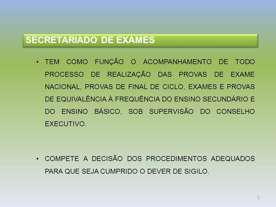 SECRETARIADO DE EXAMES