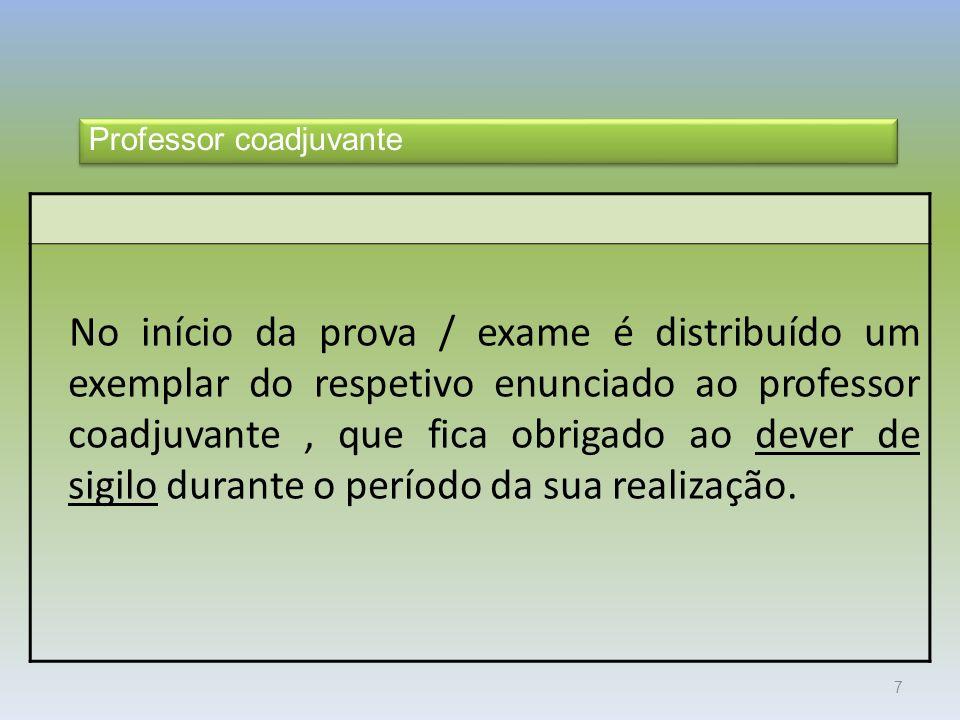 Exames 2010 Professor coadjuvante.