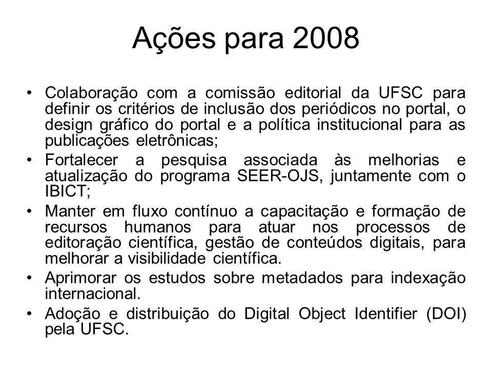 Ações para 2008