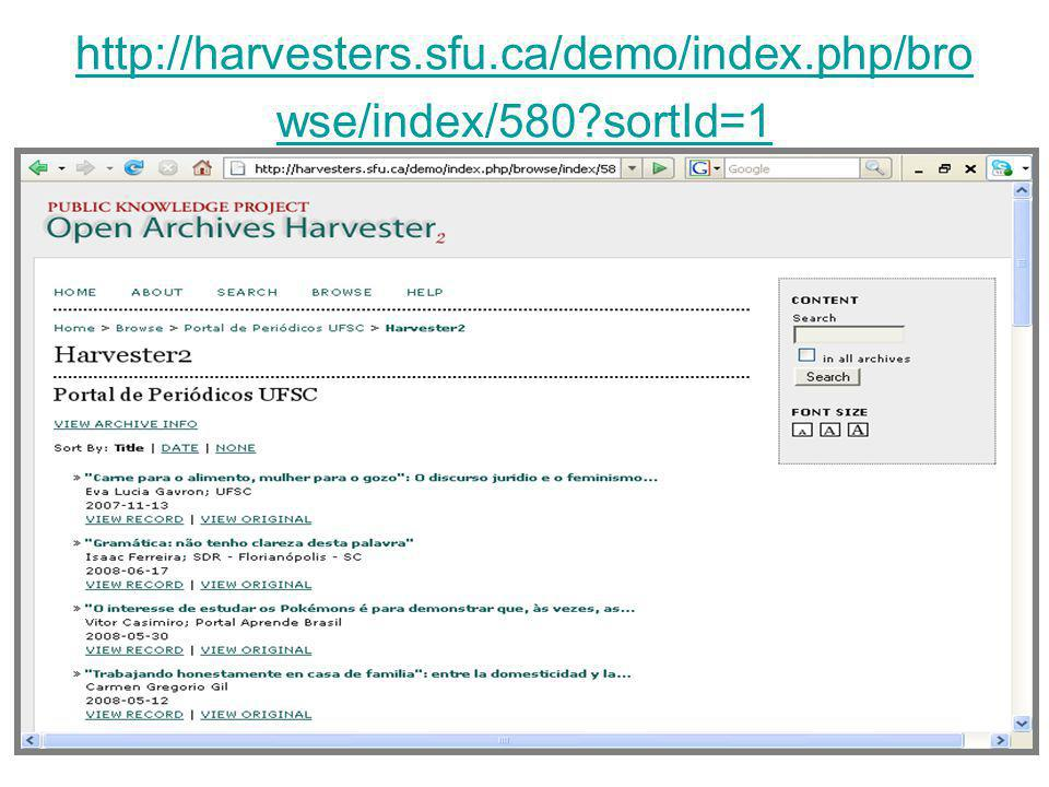 http://harvesters.sfu.ca/demo/index.php/browse/index/580 sortId=1