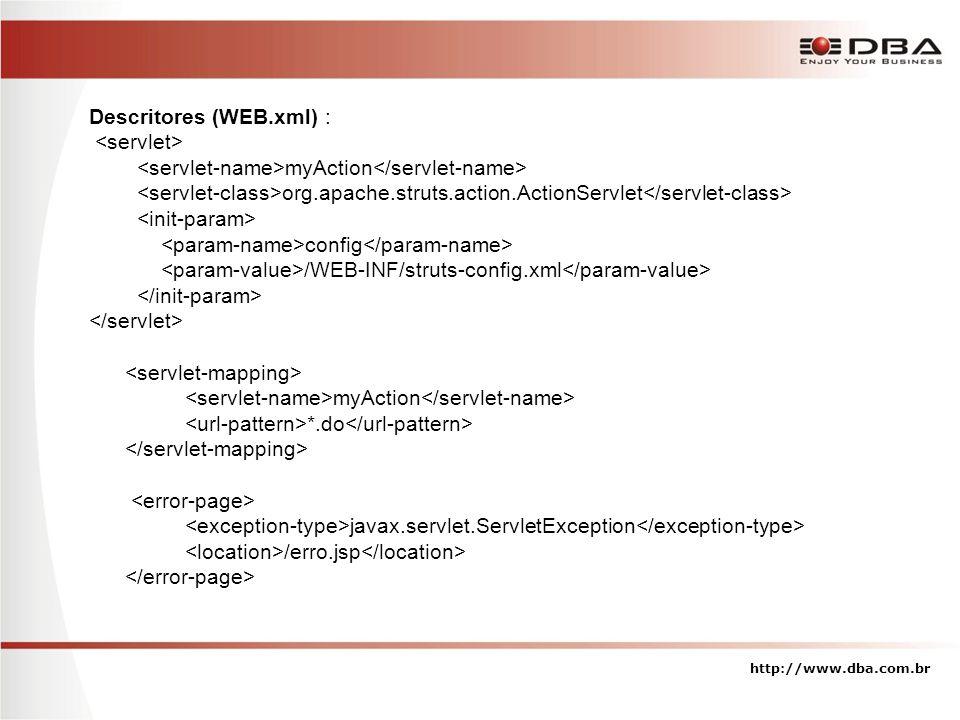 Descritores (WEB.xml) : <servlet>