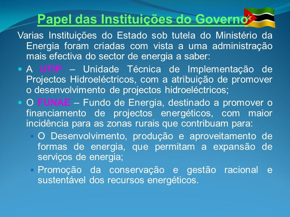 Papel das Instituições do Governo
