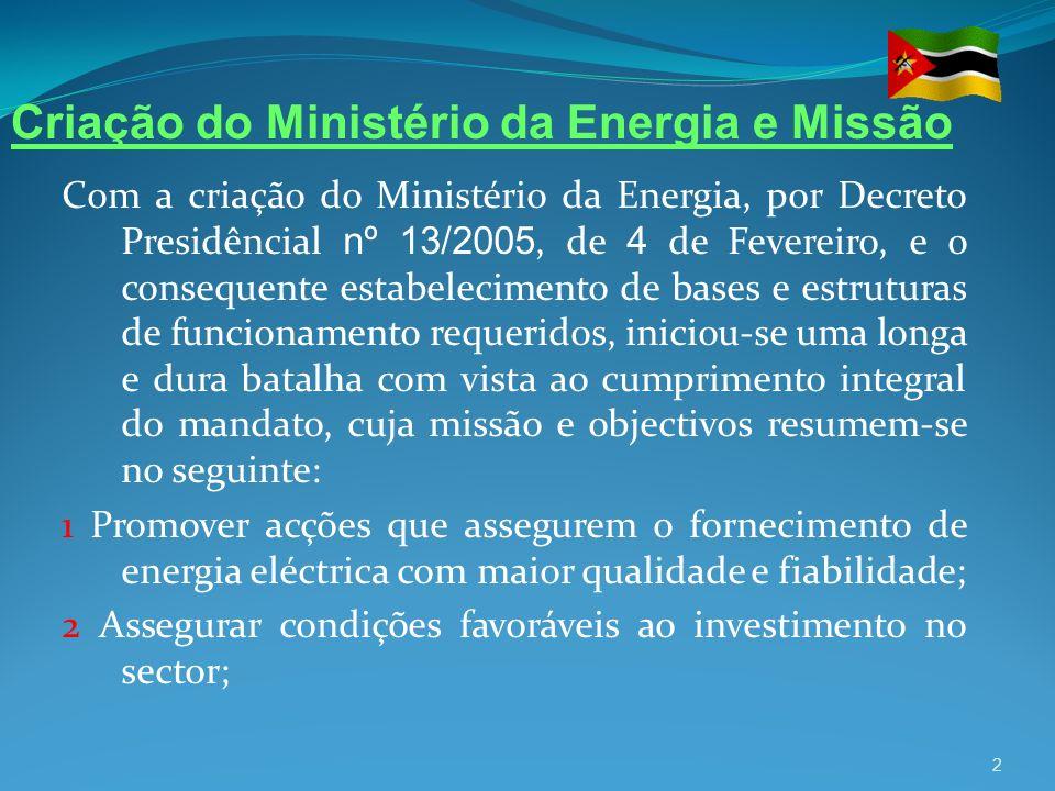 Criação do Ministério da Energia e Missão