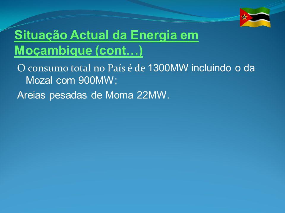 Situação Actual da Energia em Moçambique (cont…)