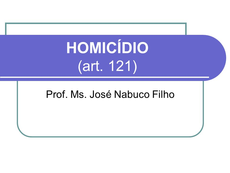 Prof. Ms. José Nabuco Filho