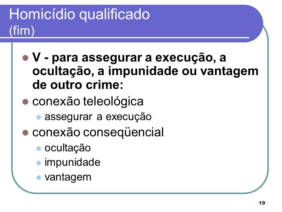 Homicídio qualificado (fim)