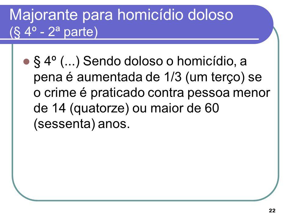 Majorante para homicídio doloso (§ 4º - 2ª parte)