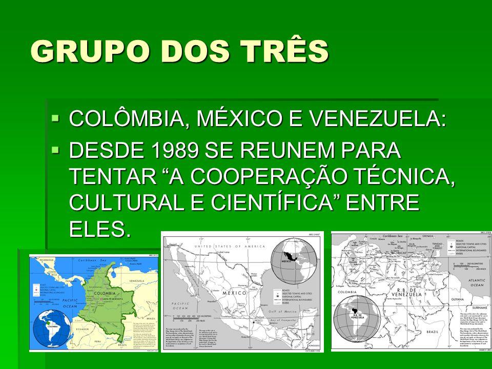 GRUPO DOS TRÊS COLÔMBIA, MÉXICO E VENEZUELA: