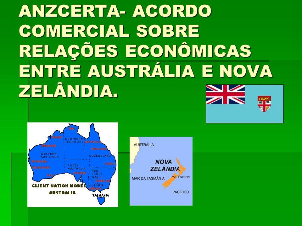 ANZCERTA- ACORDO COMERCIAL SOBRE RELAÇÕES ECONÔMICAS ENTRE AUSTRÁLIA E NOVA ZELÂNDIA.