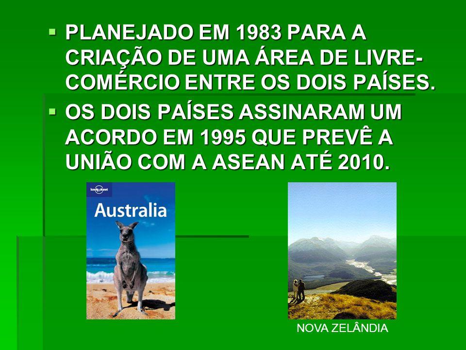 PLANEJADO EM 1983 PARA A CRIAÇÃO DE UMA ÁREA DE LIVRE-COMÉRCIO ENTRE OS DOIS PAÍSES.