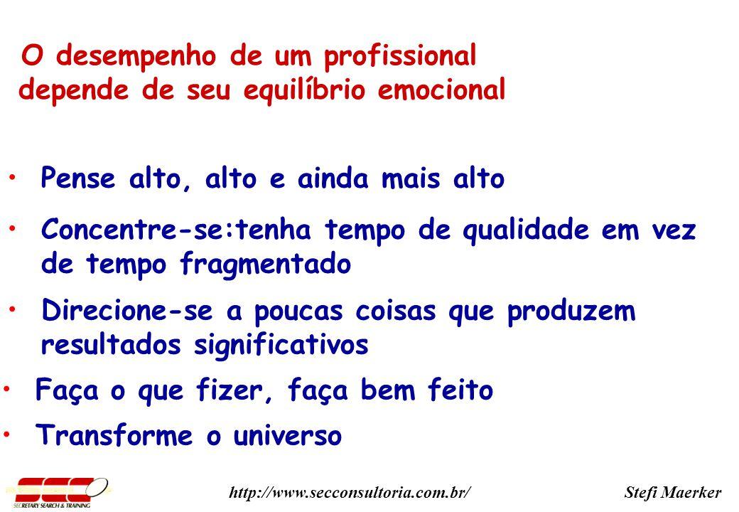 O desempenho de um profissional depende de seu equilíbrio emocional