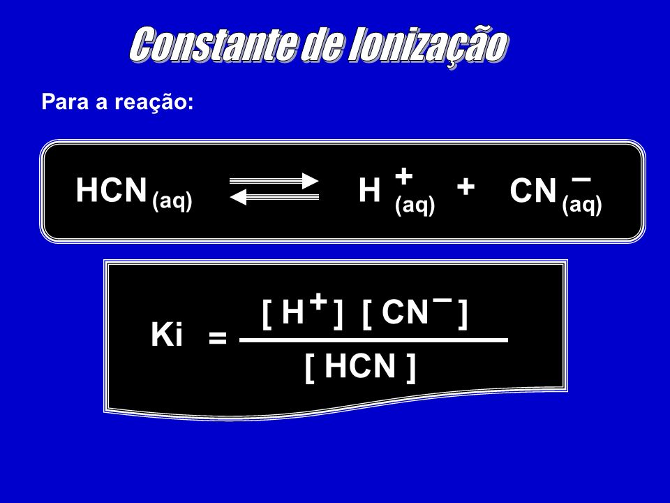 Constante de Ionização
