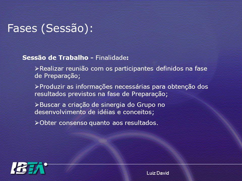 Fases (Sessão): Sessão de Trabalho - Finalidade: