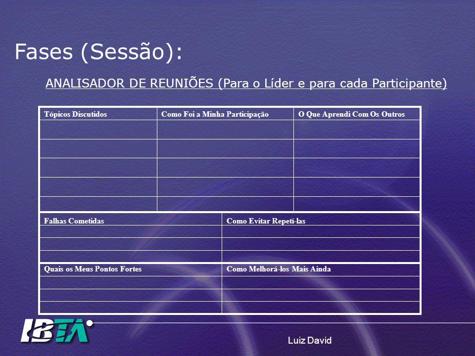 ANALISADOR DE REUNIÕES (Para o Líder e para cada Participante)
