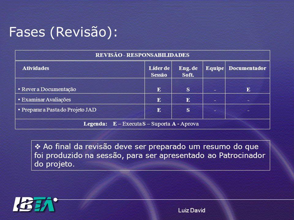 REVISÃO - RESPONSABILIDADES