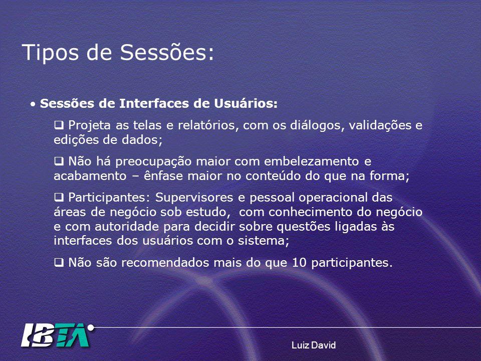 Tipos de Sessões: Sessões de Interfaces de Usuários: