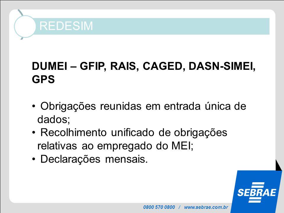 DUMEI – GFIP, RAIS, CAGED, DASN-SIMEI, GPS
