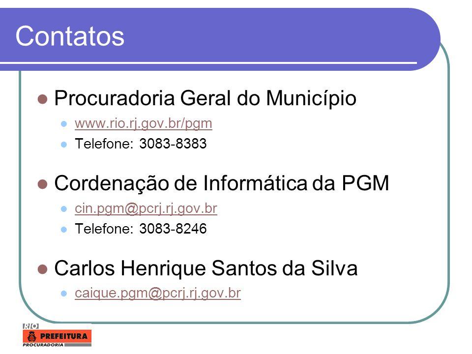 Contatos Procuradoria Geral do Município