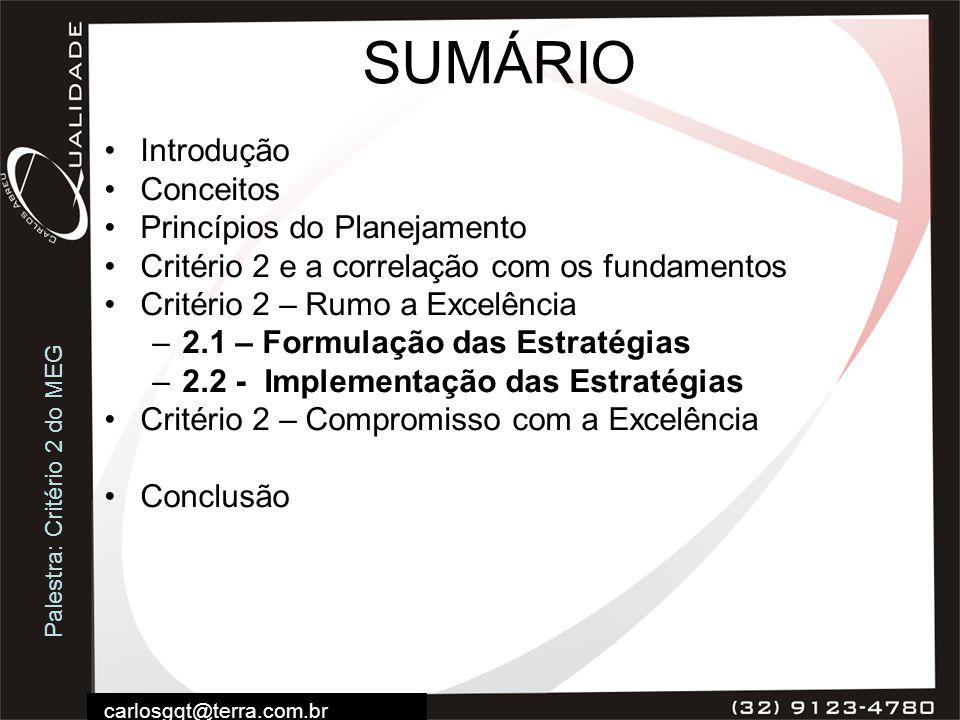 SUMÁRIO Introdução Conceitos Princípios do Planejamento