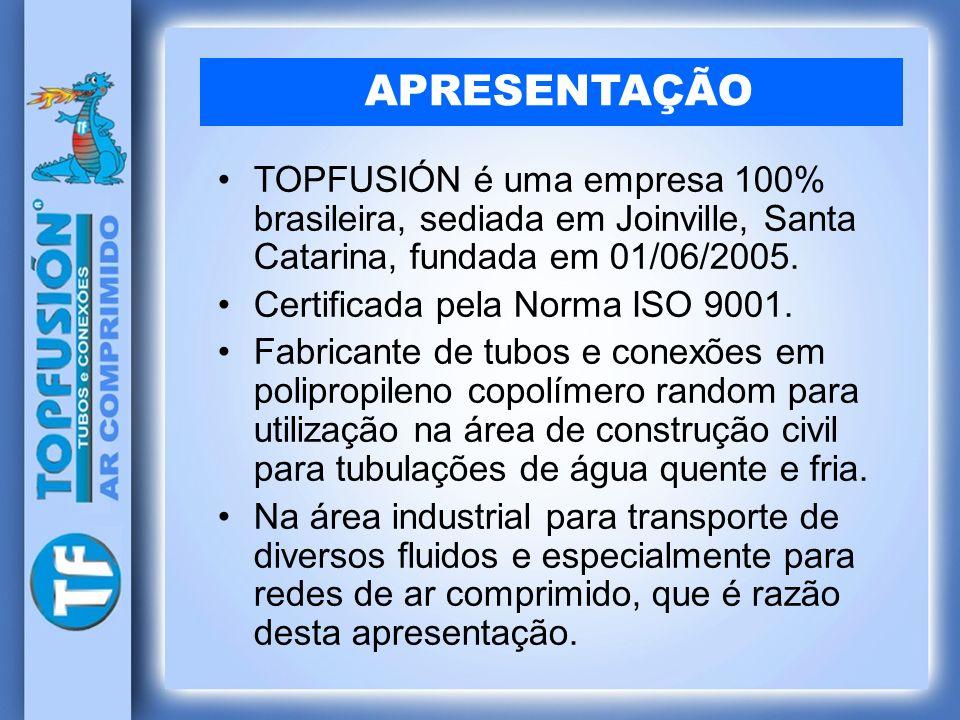 APRESENTAÇÃO TOPFUSIÓN é uma empresa 100% brasileira, sediada em Joinville, Santa Catarina, fundada em 01/06/2005.