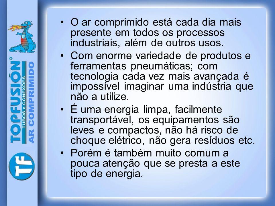 O ar comprimido está cada dia mais presente em todos os processos industriais, além de outros usos.