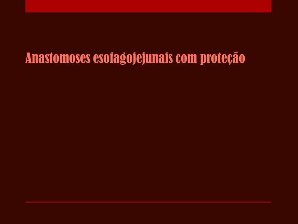 Anastomoses esofagojejunais com proteção