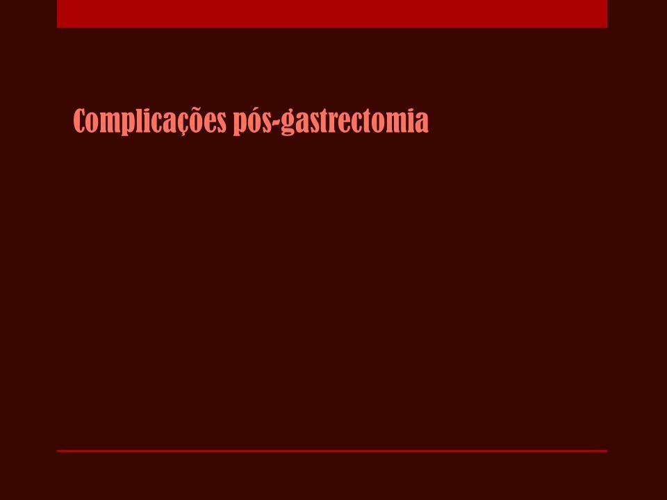 Complicações pós-gastrectomia