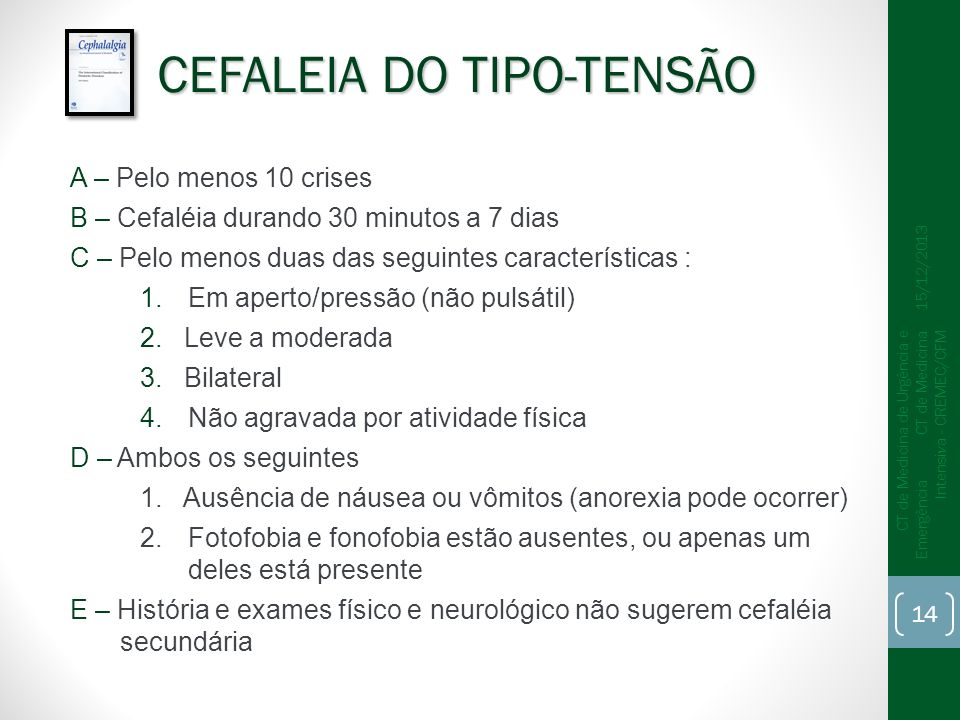 CEFALEIA DO TIPO-TENSÃO