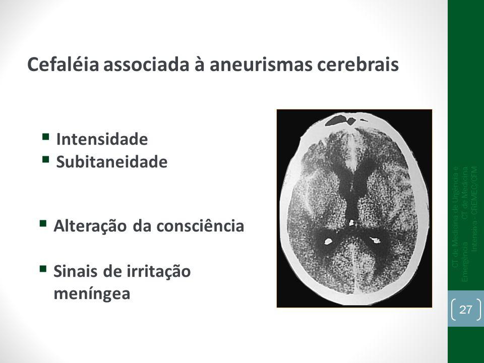 Cefaléia associada à aneurismas cerebrais