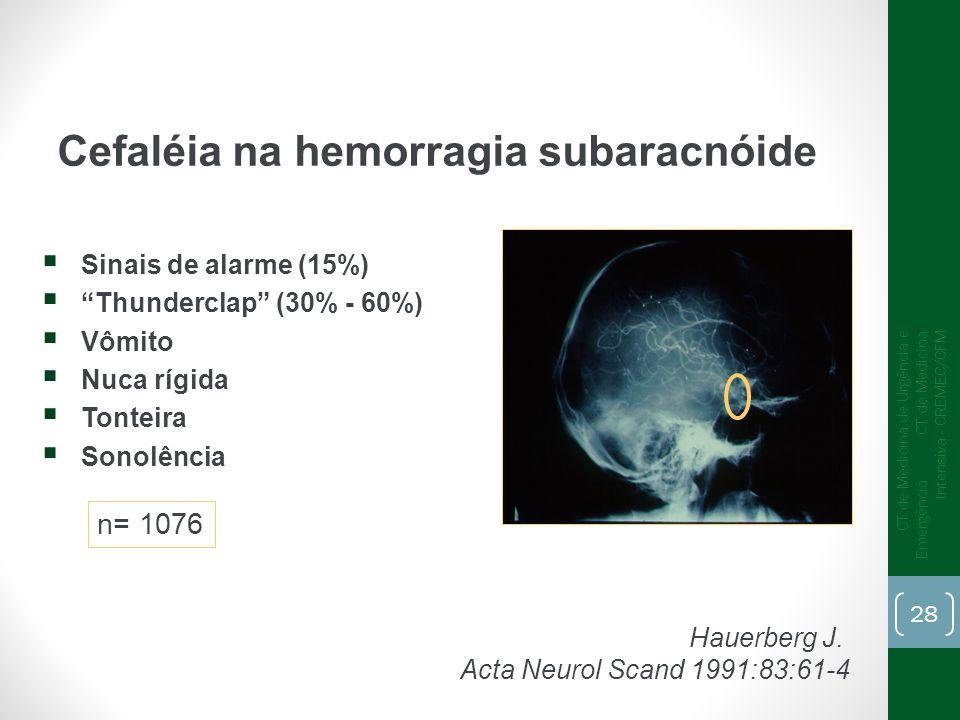 Cefaléia na hemorragia subaracnóide