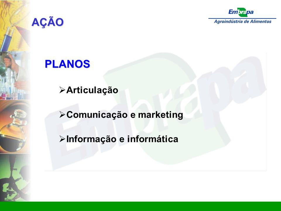 AÇÃO PLANOS Articulação Comunicação e marketing
