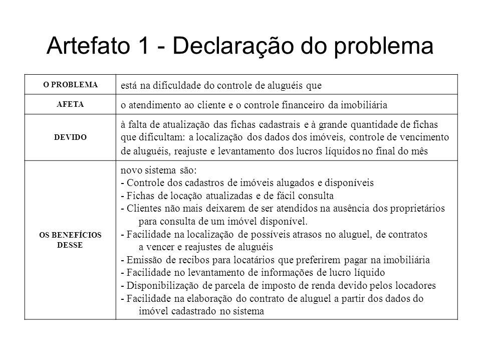 Artefato 1 - Declaração do problema