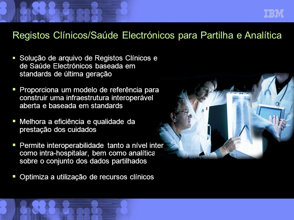 Registos Clínicos/Saúde Electrónicos para Partilha e Analítica