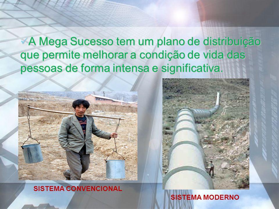 A Mega Sucesso tem um plano de distribuição que permite melhorar a condição de vida das pessoas de forma intensa e significativa.