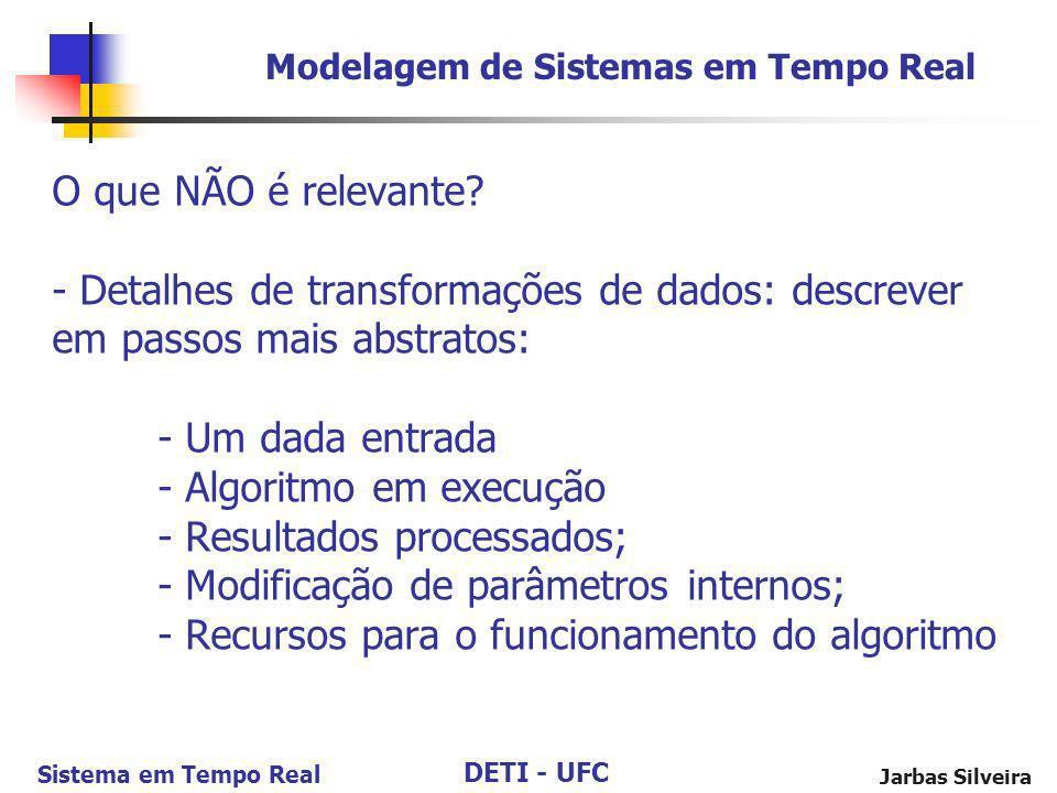 Modelagem de Sistemas em Tempo Real