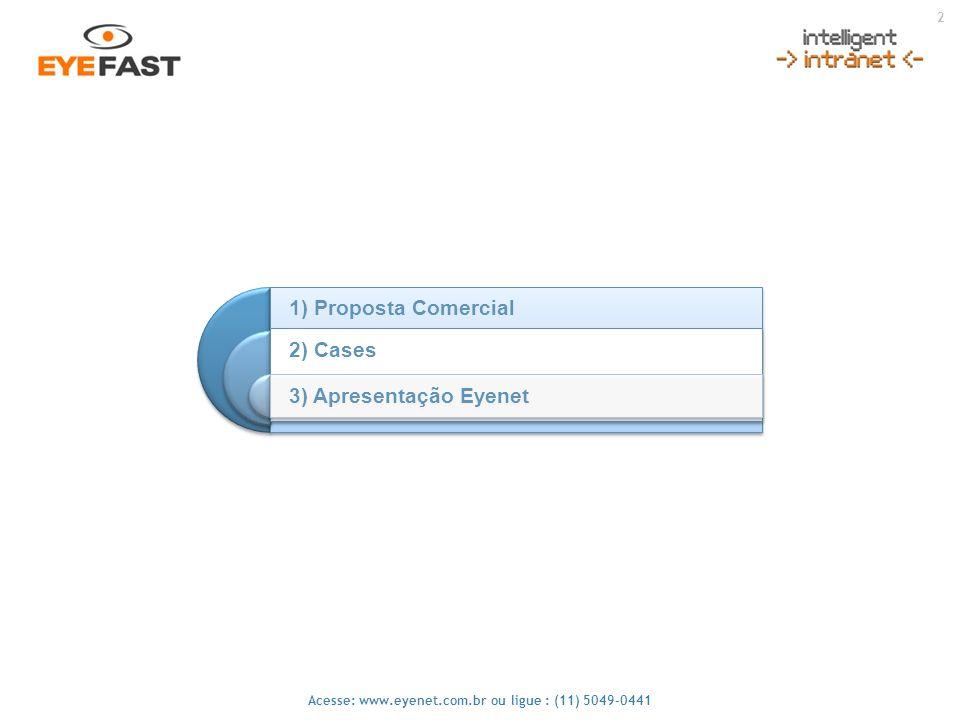 1) Proposta Comercial 2) Cases 3) Apresentação Eyenet