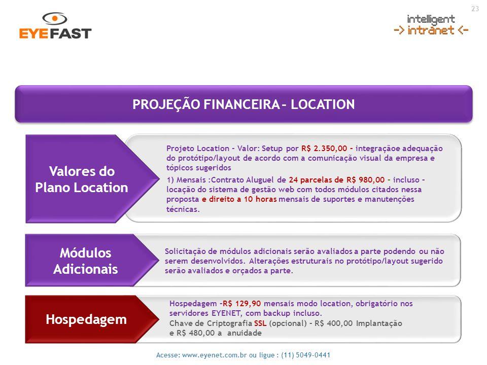 PROJEÇÃO FINANCEIRA - LOCATION
