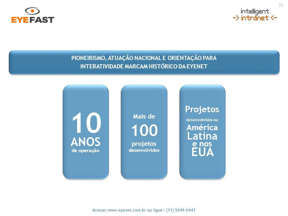10 ANOS EUA Projetos desenvolvidos na América Latina e nos