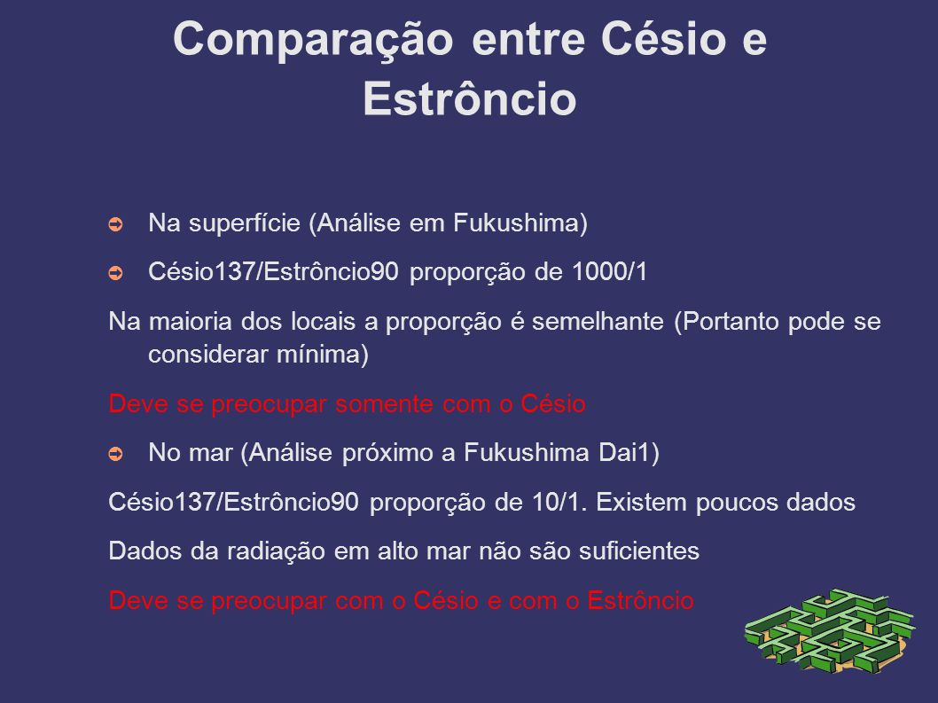 Comparação entre Césio e Estrôncio