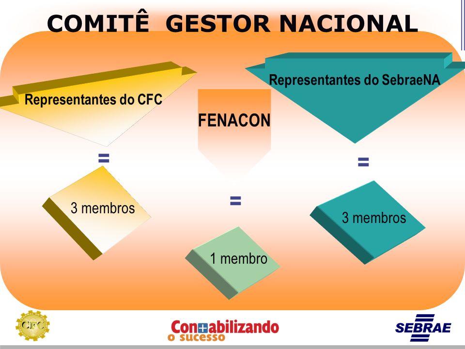 COMITÊ GESTOR NACIONAL Representantes do SebraeNA