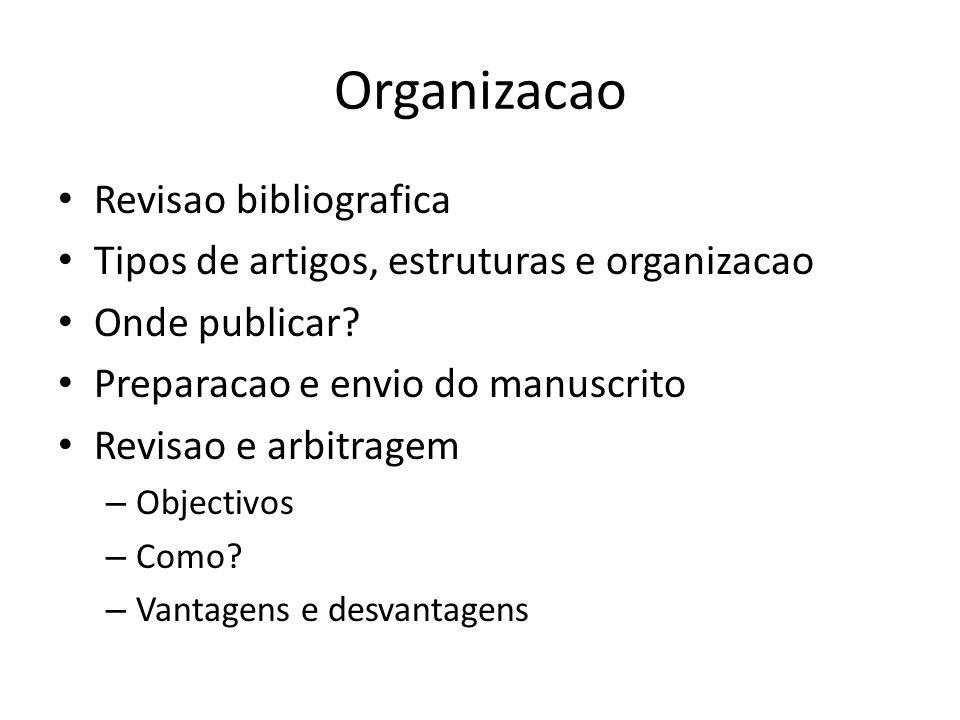 Organizacao Revisao bibliografica