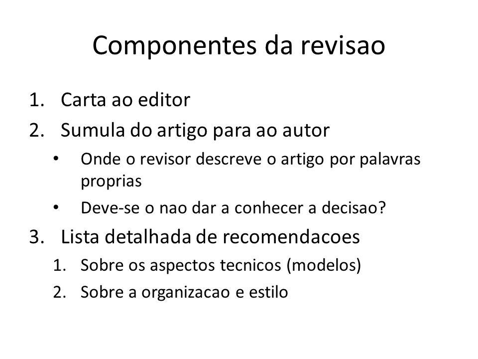 Componentes da revisao