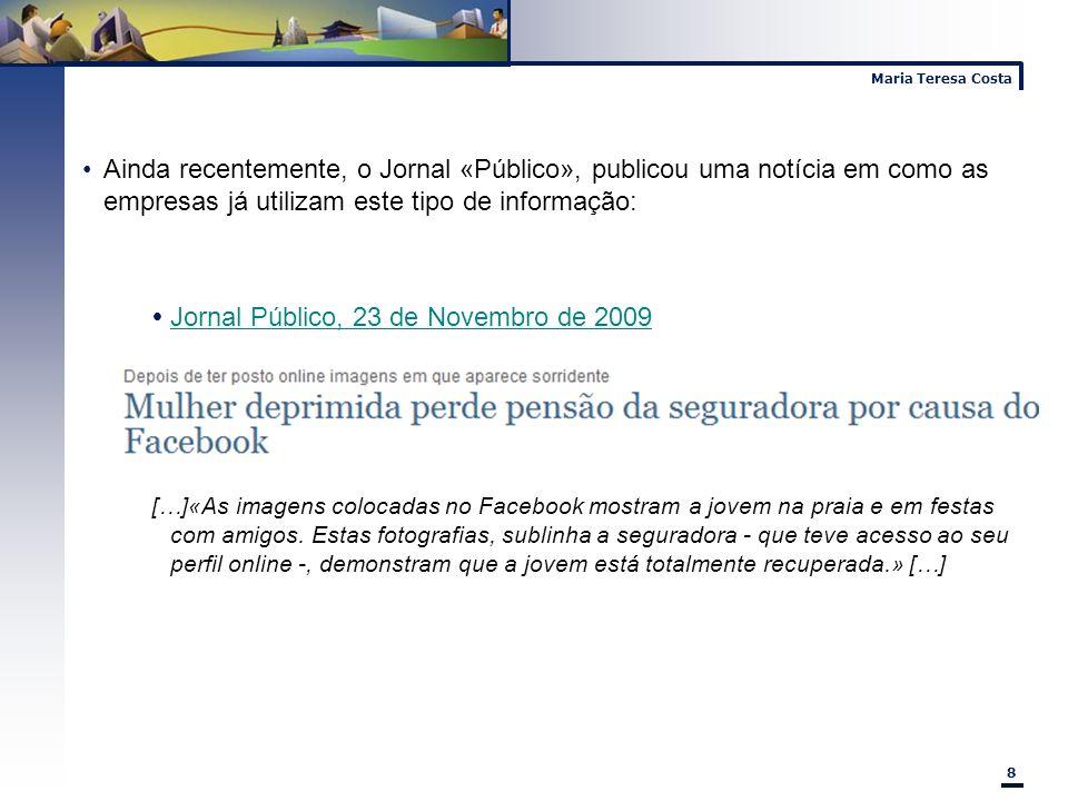 Jornal Público, 23 de Novembro de 2009
